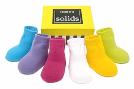 girls solid sock set