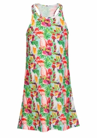 girls tropical birds swim dress