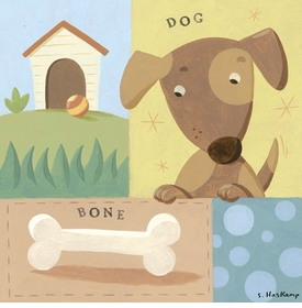 give a dog a bone wall art by steve haskamp