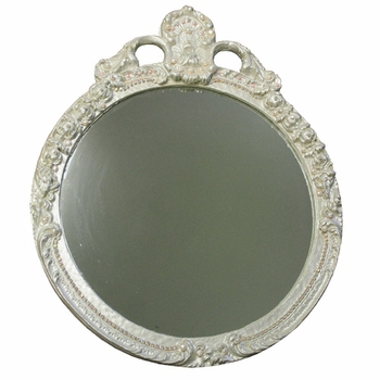 glamour wall mirror with rhinestones and pearls