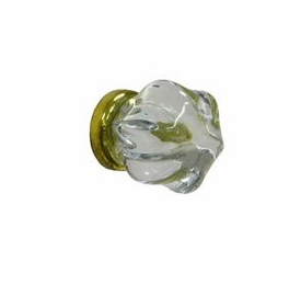glass knob w/ gold post