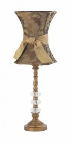 gold 3 glass ball lamp-floral hourglass shade