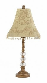 gold 3 glass ball lamp-taupe starburst shade