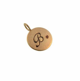 gold and cognac diamond charm