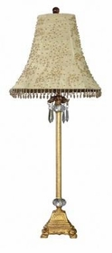 gold crystal dangle lamp-taupe starburst shade