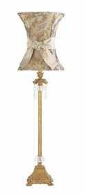 gold dangle lamp-paisley hourglass shade