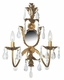 gold lighted wall sconce-khaki daisy pearl shades