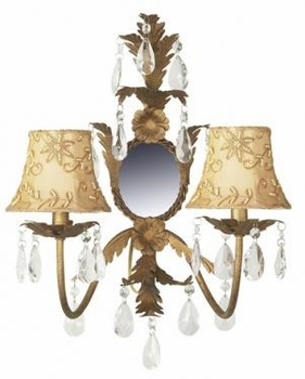 gold pearl embroidery chandelier shade