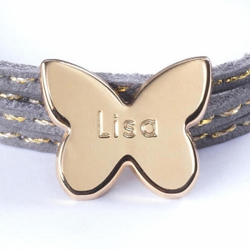 gold plated butterfly amazon charm bracelet