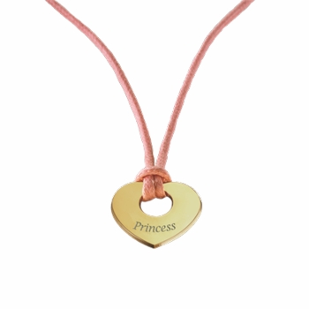 gold plated princess charm pendant