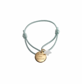gold plated star mother-of-pearl charm kids bracelet