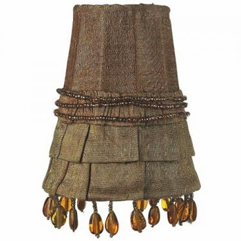 gold skirt dangle sconce shade