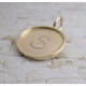 Gold Stamp Charm - 14K Solid Gold Disc & 14K Solid Gold Rim - Double Sided
