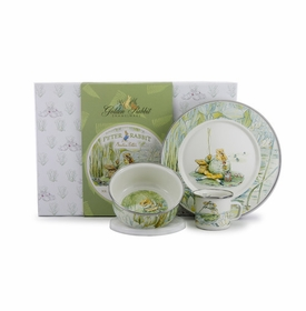 golden rabbit jeremy fisher dish set