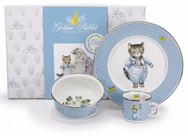 golden rabbit tom kitten dish set