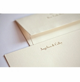 golden twins  baby stationery