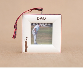 golf clubs christmas ornament