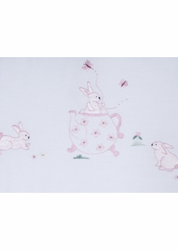 gordonsbury bunny tea party hooded towel and mitt