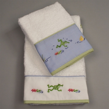 gordonsbury froggy pond hand towel