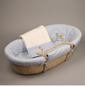 gordonsbury on safari blue moses basket - temporarily unavailable