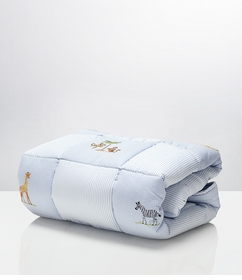 gordonsbury on safari crib quilt - Blue