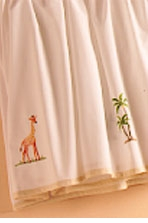 gordonsbury on safari embroidered dust ruffle