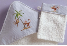 gordonsbury on safari hooded towel and mitt