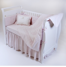 gordonsbury unembroidered crib bedding - pink