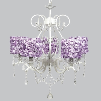 grace chandelier - lavender rose garden shades