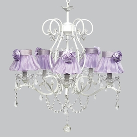 grace chandelier - lavender sheer shades rose magnets