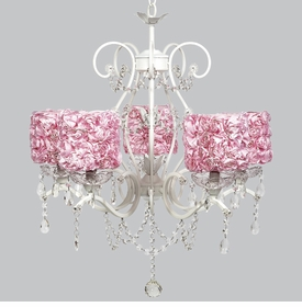 grace chandelier - pink rose garden shades