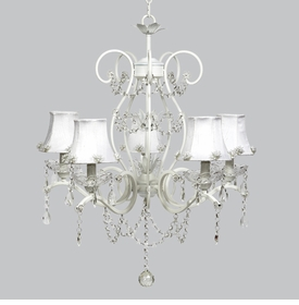 grace chandelier - white pearl burst shades