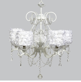 grace chandelier - white rose garden shades