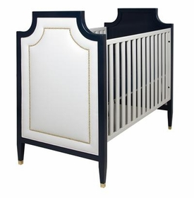 gramercy upholstered panel crib