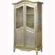 grand amoire - silver/gold gilding with brass wire mesh doors
