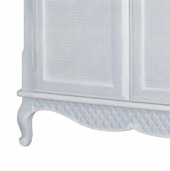 grand armoire -  moulding & caning (blue/white)