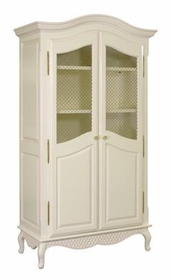 grand armoire w/wire mesh doors (linen/pink)