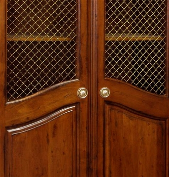 grand armoire - wire mesh doors (chateau)