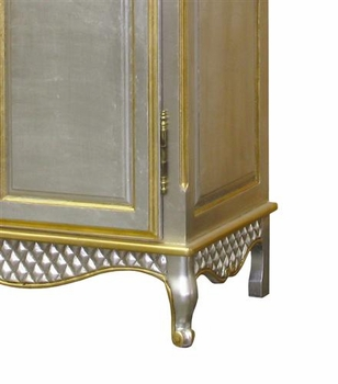 grand armoire - wire mesh doors (silver - gold gilding)