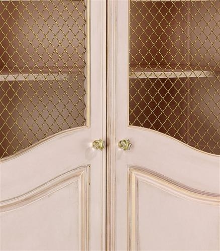 grand armoire with wire mesh doors & art for kids AFK grand armoire with wire doors