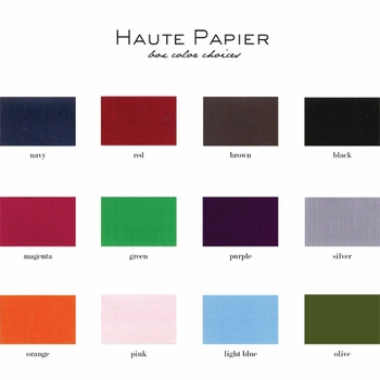 grand box of letterpress stationery by haute papier