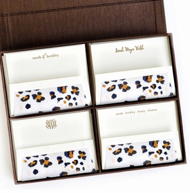 grand brown silk stationery box - g2
