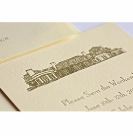 grand building save the date card