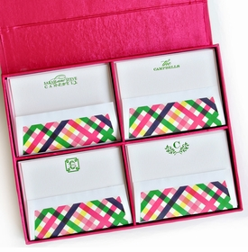 grand magenta silk stationery box - g6