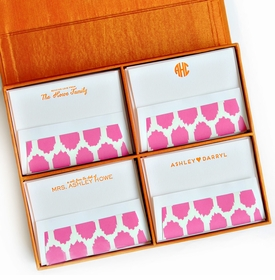 grand orange silk stationery box - g5