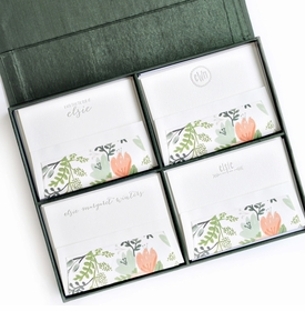 grand pine silk stationery box - g2