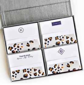grand silver silk stationery box - g10