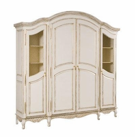 grand three piece breakfront armoire