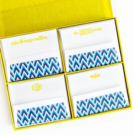 grand yellow silk stationery box - g1
