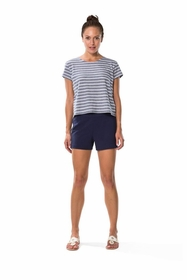 great point in ponte shorts - navy